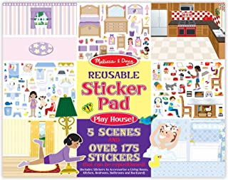 Melissa & Doug Reusable Sticker Pad Set: Play House - 175+ Reusable Stickers