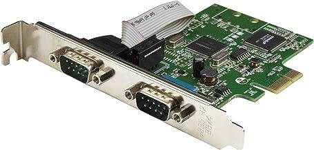 StarTech.com PCI Express Serial Card - 2 Port - Dual Channel 16C1050 UART - Serial Port PCIe Card - Serial Expansion Card (PEX2S1050)