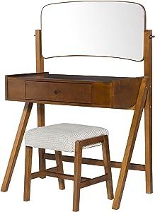 Linon Home Décor Harva Vanity Set, Walnut