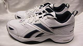 Reebok Dallas Cowboys Mens Size 8 1/2 Pro Evaluate Trainer White Navy Silver Shoes Sneakers AMZ-R 350