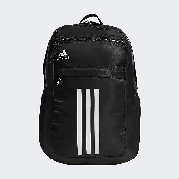 adidas Unisex League 3 Stripe Backpack, Black, ONE ... - Amazon.com