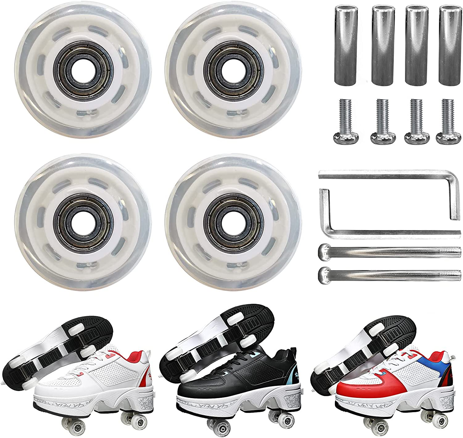 YUNWANG Durable Wear-Resistant PU Accessorie Deluxe Replacements Max 87% OFF Wheels