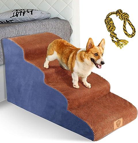 Topmart 4 Tiers Foam Dog Steps