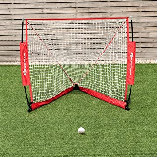 4' x 4' Lacrosse Goal Net Foldable Portable Youth Lacrosse Goal for Backyard Shooting Outdoor Indoor Use with Carry Bag Set up and Take Down in Minutes