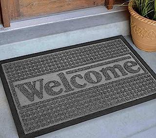 Welcome Mats Outdoor 30x18, Front Door Mats Outdoor, Hello Doormats for Outdoor Entrance Home, Cute Door Matt for Inside/ ...