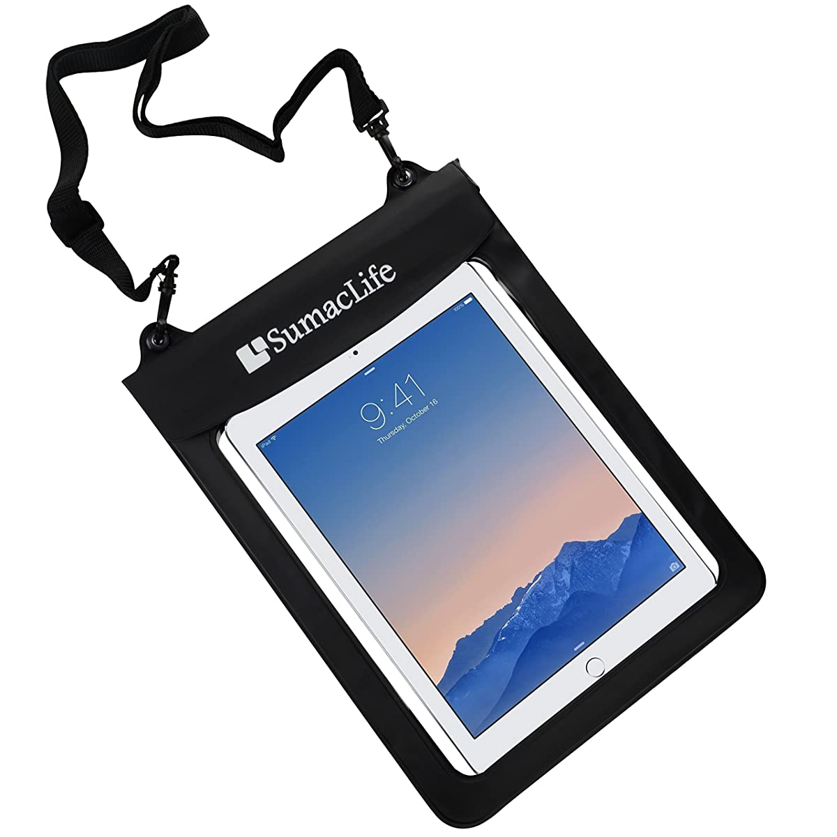 Sumaclife Waterproof Pouch Dry Bag Case For iPad Air 2 / iPad with Retina Display / IRULU Window 8.1 OS Tablet, 10.1'' / Dragon Touch A1X Plus 10.1