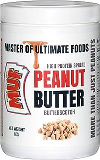 MUF Peanut Butter (Butterscotch)   1 KG   HIGH Protein   Vegan   Smooth   Creamy   Limited Period Discount Offer