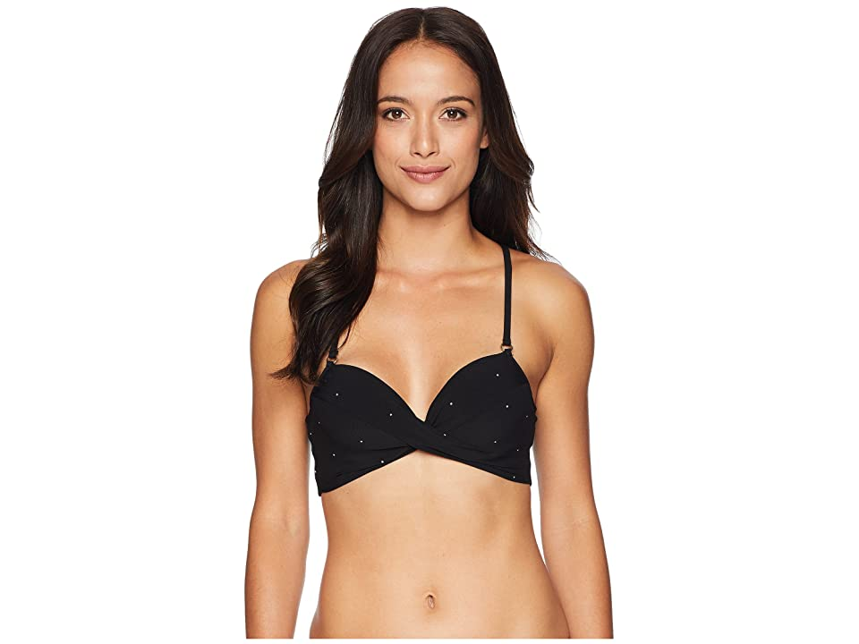 Robin Piccone Jennie Twist Cami Top (Black) Women