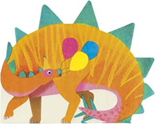 مناديل ديناصور ستيجوسورس لديناصور من شركة تاكينغ تيبلز، عبوة من 16 قطعة، 32 × 32 سم، 30.48 سم × 30.48 سم، لون برتقالي