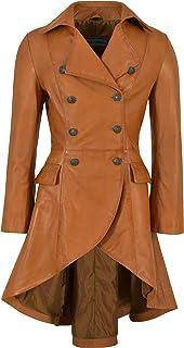 Carrie CH Hoxton Edwardian Ladies Real Chaqueta de Cuero 100% Piel de Cordero Hebilla Trasera Victorian Coat 3491-B