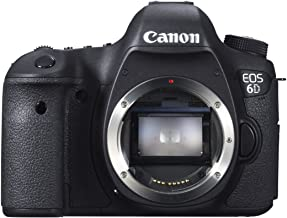 Canon EOS 6D 20.2 MP CMOS Digital SLR Camera with 3.0-Inch LCD (Body Only) - Wi-Fi Enabled