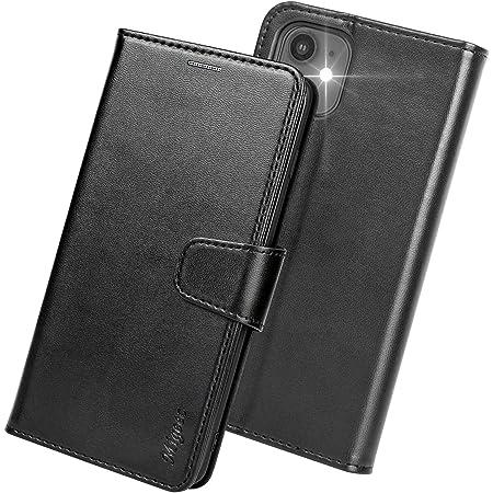 Migeec Funda iPhone 12 / iPhone 12 Pro - Funda con Tapa Tipo Billetera [Bloqueo RFID] con Soporte para Tarjeta de crédito y Bolsillo para iPhone 12 / iPhone 12 Pro - Negro