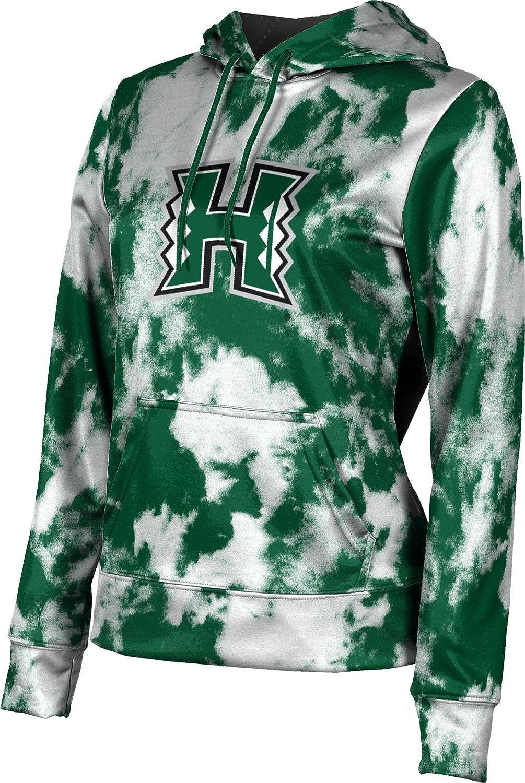 ProSphere University of Hawaii Girls' Pullover Hoodie, School Spirit Sweatshirt (Grunge)