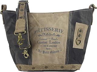 Sunsa Damen Taschen Umhängetasche Handtasche Canvas mit Leder. Große Vintage Crossbody Tasche/bag Schultertasche, Geschenkideen für Frauen/Mädchen nachhaltige Produkte 52215