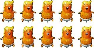 SummitLink Pack of 10 Baby Trump Cartoon Style Balloons PE Helium Foil Balloon Mylar (27``)