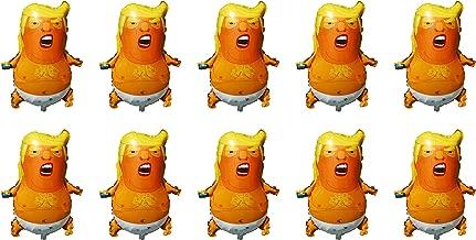 SummitLink Pack of 10 Trump Cartoon Style Balloons PE Helium Foil Balloon Mylar (27'')