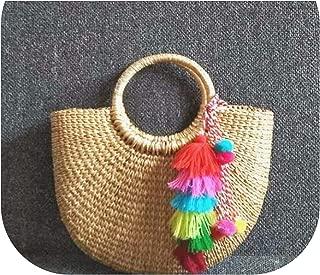 Bag Beach Bag Straw Totes Bag Bucket Summer Bags With Tassels Women Handbag Braided