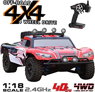 VOLANTEXRC Remote Control Truck 1:18 Scale 4WD Off-Road RC Car Short Course 30mph High Speed All Terrain RC Vechicle RTR for Kids or Adults, Boys or Girls (785-2)