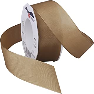Morex Ribbon 09638/20-704 Dream Wired Taffeta Ribbon Spool, 1-1/2-Inch by 22-Yard, Prairie Sand