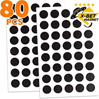 Magnetic Dots - 80 Self Adhesive Magnet Dots (0.8
