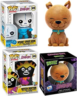 Furry Exclusive Scooby-Doo! Figure Friend & Monsters Mystery Bundled with + Vinyl Witch Doctor + Space Kook Pop Characters...