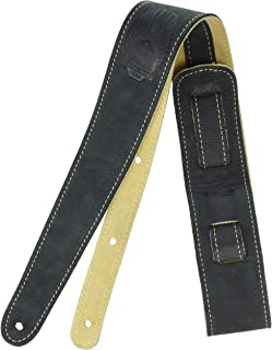 Fender Road Worn Distressed Leather Guitar Strap Black