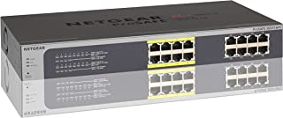 NETGEAR JGS516PE-100AJS 16 Port 10/1000 GIGABIT 8 Port POE Switch Rack MOUNTABLE,Grey