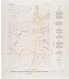 Historic Pictoric Map : Reconnaissance geologic map of Cherokee Lake Quadrangle, Cook County, Minnesota, 1977 Cartography Wall Art : 32in x 36in
