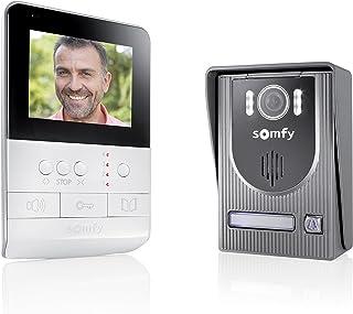 Somfy 2401330 V100 - Videoportero con visión nocturna y control de dispositivos RTS, ultraresistente y fácil de instalar