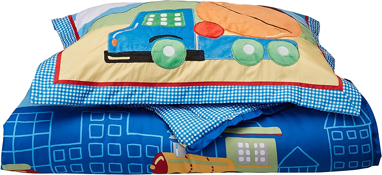Mizone Kids Totally Transit 3 Piece Comforter Set, Multicolor, Twin
