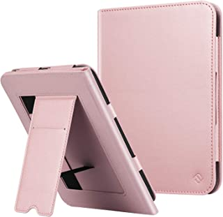Fintie Stand Case for All-New Nook Glowlight Plus 7.8 Inch 2019 Release, Folio Premium PU Leather Protective Cover with Card Slot and Hand Strap (Not Fit Previous Gen 6 Inch 2015), Rose Gold