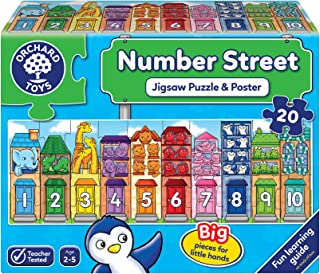 Orchard Toys Number Street Jigsaw Puzzle, Multicolour, One Size