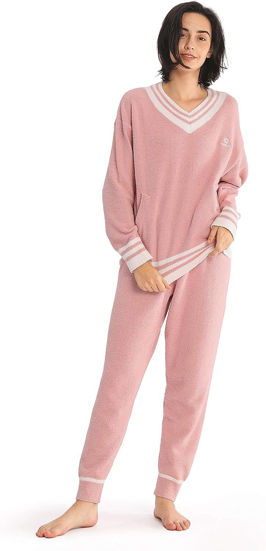 Femofit Pajamas 送料無料カード決済可能 Set for Women Sleepwear Pajam Fleece Sleeve 往復送料無料 Long