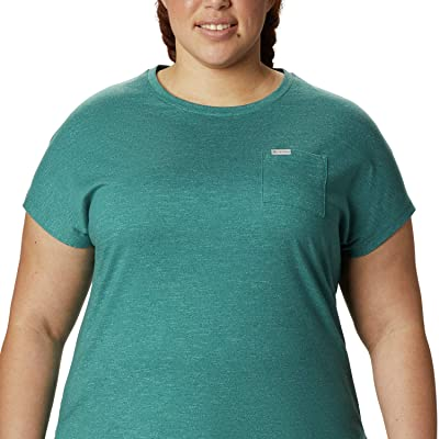 Columbia Plus Size Cades Capetm Tee (Waterfall) Women
