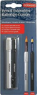 مجموعة اداة تمديد للقلم الرصاص من ديروينت لقلم رصاص بحجم يصل الى 8 ملم من قطعتين باللون الفضي والاسود طراز (2300124)