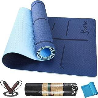 YockTec Estera de Yoga Esterilla de Gimnasia de TPE Antideslizante Libre de Contaminantes para Fitness, pilates y gimnasi...