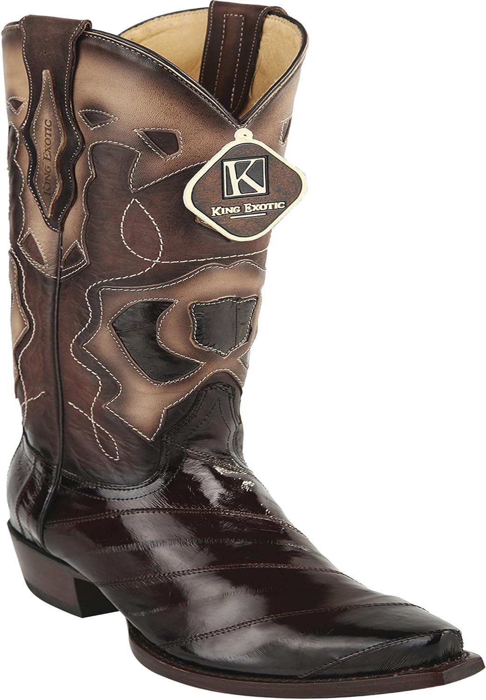 Woherrar Snipp Toe Toe Toe Genuine läder EEL Skin Western stövlar  kom att välja din egen sportstil