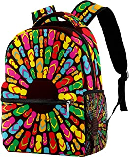 Colorful Apples Pattern Lightweight School Classic Backpack Travel Rucksack for Women Teens