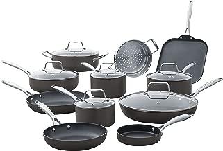 Stone & Beam Kitchen Cookware Set, 17-Piece, Pots and Pans, Hard-Anodized Non-Stick Aluminum