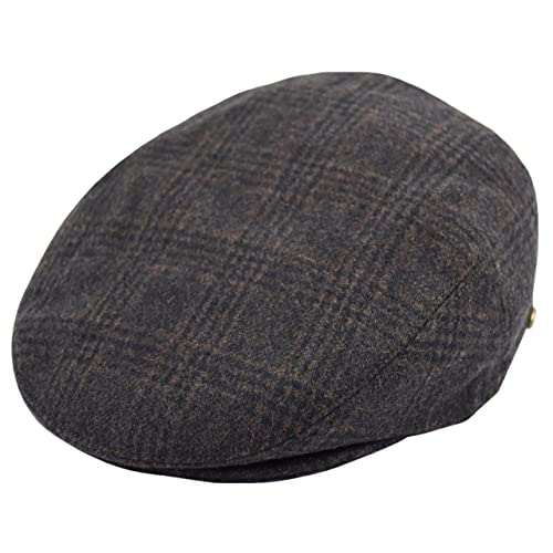 Classic Men s Flat Hat Wool Newsboy Herringbone Tweed Driving Cap bd51da6310a3