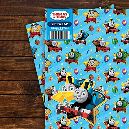 Thomas & Friends Gift Wrapping Paper - Two Sheet Two Tag