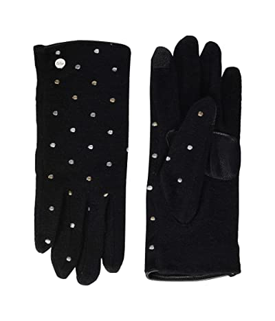 Echo New York Dot Dot Touch Gloves Water Repellent Finish (Black) Extreme Cold Weather Gloves