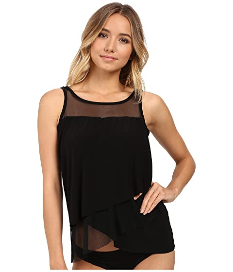 Clearance Brand New Unisex Quality Free Shipping Low Price Miraclesuit Solid Separates Mirage Tankini Top Black The Cheapest Cheap Online Free Shipping Order Discount Really jaxpX