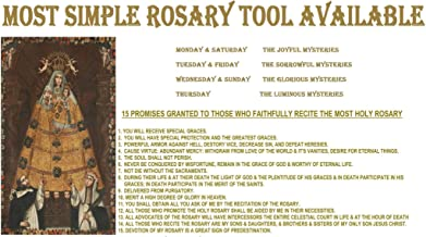The Most Simple Rosary Tool Available: Joyful, Sorrowful, Glorious, Luminous Mysteries COMPLETE Monday Through Sunday