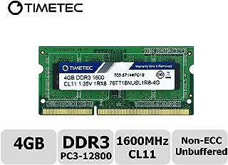 Timetec Hynix IC 4GB for Synology NAS DiskStation/RackStation DDR3/DDR3L 1600MHz PC3L-12800 1.35V Non-ECC Unbuffered 204 Pin SODIMM Memory RAM Upgrade (Equivalent to Synology RAM1600DDR3-4G)