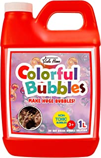 Lulu Home Bubble Concentrated Solution, 1 L/ 33.8 OZ Bubble Refill Solution for Kids Bubble Machine, Giant Bubble Wand, Bu...