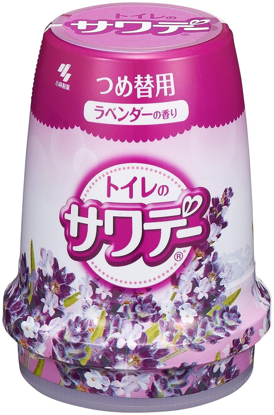 複製密度権威サワデー 消臭芳香剤 トイレ用 詰め替え用 こころ落ち着くラベンダーの香り 140g