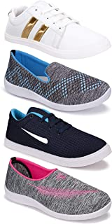 Shoefly Women's (5046-5044-5045-765) Multicolor Casual Sports Running Shoes (Set of 4 Pair)