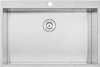 Phoenix 18 Gauge 304 等级 不锈钢单碗 Overmount 厨房水槽