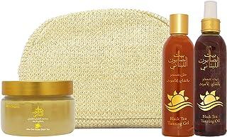 Bayt Al Saboun Al Loubnani Black Tea Tanning Set III (Tanning Oil 250ml + Tanning Gel 250ml + After Sun Butter 300g)